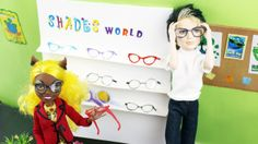 How to Make Doll Eye Glasses - Super Easy - Realistic Look Diy Ag Dolls, Diy Doll, Barbie Dolls, Ag Doll Clothes, Doll Clothes Patterns, Doll Patterns, Our Generation Doll Accessories, Our Generation Dolls, Barbie Doll Accessories