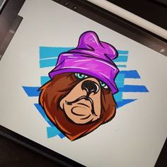 Digital Illustration, Graffiti, Doodles, Bear, Graphic Design, Sculpture, Texture, Drawings, Youtube