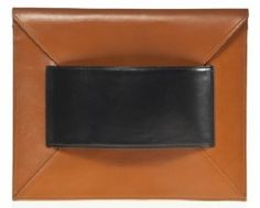 black and brown clutch bag