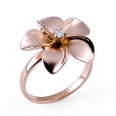 pink gold/diamond plumeria ring. I love this ring!!!