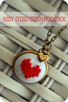loving cross stitch jewelry right now