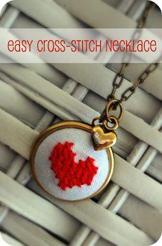 loving cross stitch jewelry right now