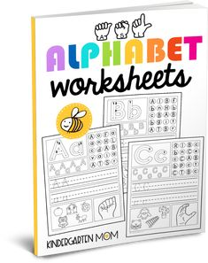 Free alphabet worksheets for tracing, letter formation, letter identification, uppercase and lowercase handwriting, beginning letter sounds and ASL.