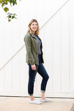 e692276e1cc6 Field Jacket. Converse ShorelineOutfits With Striped ShirtsFashion ...