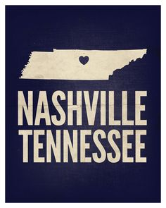"Nashville, Tennessee Love Print, 8"" x 10"". $22.99, via Etsy."