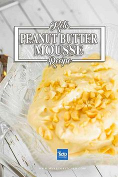 This Delicious Easy to Make Peanut Butter Mousse Recipe is Keto and Low-Carb diet friendly, also Gluten Free for everyone to enjoy. It makes an excellent quick dessert or eat it as a snack.