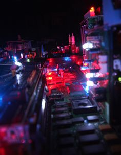 The Electri-City is a miniature cityscape made from recycled printed circuit boards and other waste electronic components with an integrated lighting system... - Benjamin Yates