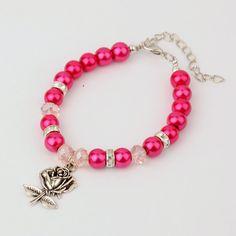 PandaHall Jewelry—Glass Pearl Bracelets for Valentine's Day with Tibetan Style Rose Pendants   PandaHall Beads Jewelry Blog