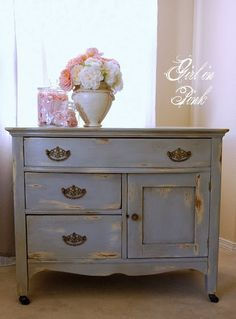 The chalk paint colors are Cream and Paris Grey. Description from pinterest.com. I searched for this on bing.com/images