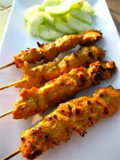 chicken satay with peanut sauce malaysian food chicken satay with ...