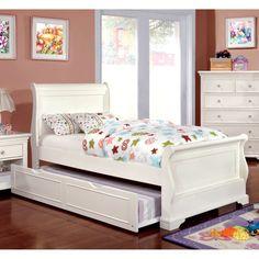 Furniture of America Adina Sleigh Bed, Size: Full/Double - IDF-7944F