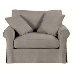 Suzanne Kasler Linen Baldwin Club Chair Slipcover  | Ballard Designs For a relaxing evening please