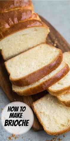 How to make Brioche recipe from RecipeGirl.com #brioche #bread #recipe #RecipeGirl Loaf Bread Recipe, Loaf Recipes, Bread Machine Recipes, Easy Bread Recipes, Biscuit Recipe, Almond Recipes, Bread Food, Healthy Recipes, Breadstick Recipe