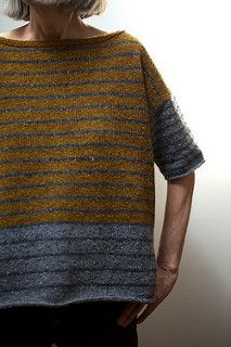 Ravelry: Tweedy-Stripey pattern by Leslie Weber - Super knitting Sweater Knitting Patterns, Easy Knitting, Knit Patterns, Easy Patterns, Knitting Sweaters, Free Crochet, Knit Crochet, How To Purl Knit, Knitted Shawls