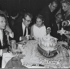 James Dean & Ursula Andress at Frank Sinatra's birthday party in Villa Capri,1955