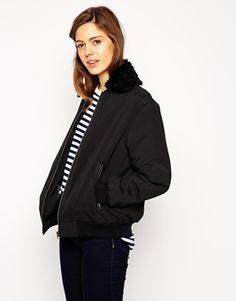 ASOS Bomber Jacket With Borg Collar MUST HAVE !!
