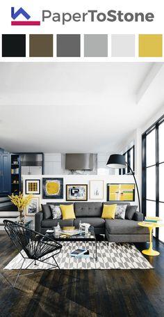 Living room color palette - apple-green black dark-gamboge dark-orange orange
