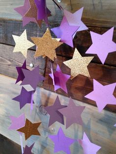 Twinkle Twinkle Gold Glitter and Purple Ombre by PartyMadePretty