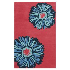 Adorned with an oversized floral motif, this hand-woven wool rug brims with garden-chic appeal.-------500$----7.5x9.5--------wool-------   Product: RugConst...