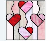 Stained Glass Patterns Flowers | heart quilt glass pattern simple geoometric stained glass pattern that ...
