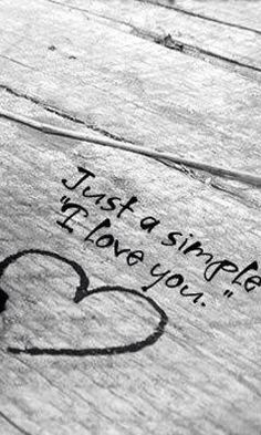 just a simple...