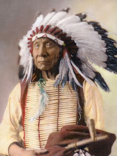 Red Cloud (Makhpia-sha), Oglala, Sioux Chief.