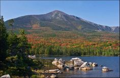View of Katahdin in Baxter state park. One of my favorite places to hike.