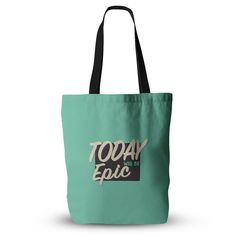 """Juan Paolo """"Epic Day"""" Vintage Teal Everything Tote Bag"""