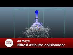 3D Maya 203 Dinamicas Bifrost Atributos Colisionador y acelerador - YouTube