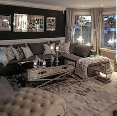 Viral 35 Home Decor Ideas Usa Houzz is the new way to design your home. Browse 18 million interior design photos, home decor, decorating ideas and hom… Glam Living Room, Living Room Decor Cozy, Elegant Living Room, New Living Room, My New Room, Home And Living, Bedroom Decor, Living Room Ideas, Small Living