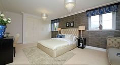 A luxury bedroom design at Shenley Grange with a cream coloured interiors Kings Home, Luxury Bedroom Design, Luxurious Bedrooms, Colorful Interiors, Homes, Cream, Gallery, Furniture, Home Decor