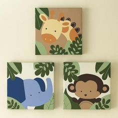 Kids Line Jungle 1, 2, 3 Three-pc. Wall Art