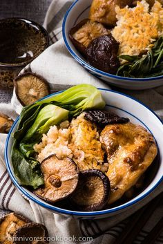 The Best Clay Pot Chicken Rice - the recipe teaches you the easiest way to create a super flavorful one-dish meal without a clay pot or rice cooker   omnivorescookbook.com: