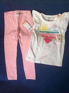 NWT Gymboree 4T Girl's Two Piece Summer Sunshine Outfit Set  #Gymboree