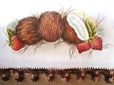*** RG Artes *** by Raquel Garcia: Minhas pinturas Cute Clipart, Fabric Painting, Clip Art, Crafts, Painting Carpet, Folk Art, Painting Art, Crochet Dishcloths, Dish Towels