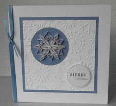 Quilled snowflake Christmas card, handmade, paper quilling