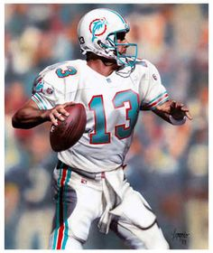 Dan Marino - Miami Dolphins,the steelers should have drafted him.he had no running game and a weak defense during his career with the dolphins which is why they never won a superbowl. Miami Football, But Football, Nfl Football Teams, American Football Players, Football Memes, College Football, Nfl Miami Dolphins, Dolphins Logo, Dolphins Cheerleaders