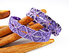 Ripples in Micro macrame bracelet, designed by Sherri Stokey of Knot Just Macrame.