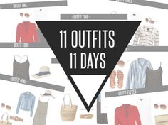 11 OUTFITS 11 DAYS: tells what to bring/ don't like her outfits as much, but that doesn't matter.