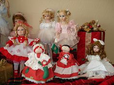 Christmas Dolls by nostalgic nana, via Flickr