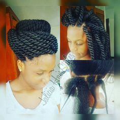 Crochet Hair Rubber Band : ... Styles on Pinterest Protective styles, Box braids and Crochet braids