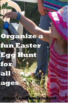 Food, Family, Fun.: Easter Egg Hunt! different egg colors for each child and hide according to skill level