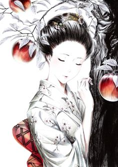 Geisha Artistic HD desktop wallpaper, Woman wallpaper - Artistic no. Manga Art, Manga Anime, Anime Art, Anime Kimono, Manga Illustration, Illustrations, Anime Fantasy, Fantasy Art, Theme Anime
