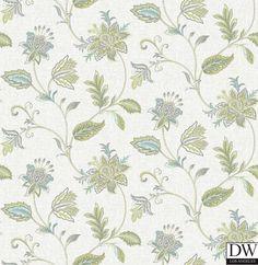 Georgette Turquoise Jacobean Wallpaper  [FFA-82004] Frederica Frontere   Color: Turquoise   DesignerWallcoverings.com   Luxury Wallpaper   @DW_LosAngeles   #Custom #Wallpaper #Wallcovering #Interiors