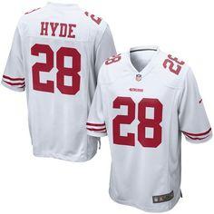 Carlos Hyde San Francisco 49ers Nike Game Jersey - White - $99.99