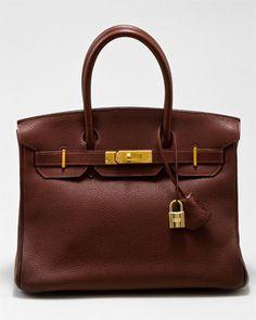 Hermes Chocolate Togo Leather Birkin 30cm