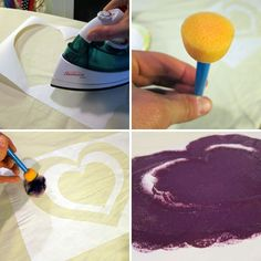 Freezer paper screen printing - easy DIY way to screen print. Can totally do this on all sorts of projects!