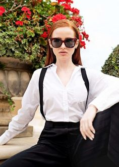 Madelaine Petsch: Prive Revaux x Madelaine Collection 2018 adds Cheryl Blossom Riverdale, Riverdale Cheryl, Riverdale Cast, Madelaine Petsch, Betty Cooper, Outfit Trends, Girl Crushes, Redheads, My Girl