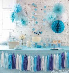 Paquete de decoración para fiestas con más de 30 elementos y adornos para crear una preciosa fiesta en casa. Se puede personalizar