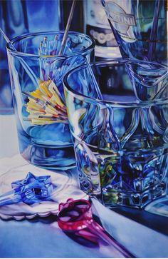 Blue Cocktail by Kate Brinkworth | Medium: Oil on Board